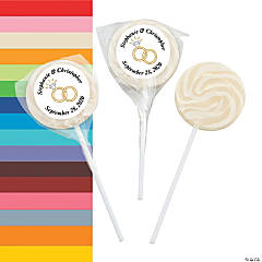Wedding Ring Personalized Swirl Pops