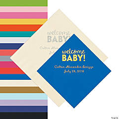 Welcome Baby Personalized Napkins - Beverage or Luncheon