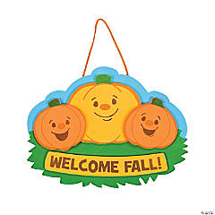 Welcome Fall Pumpkin Sign Craft Kit