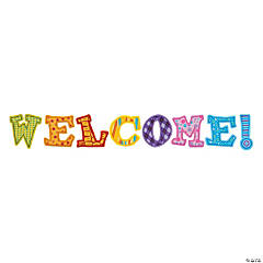 Welcome Letters Bulletin Board Cutouts