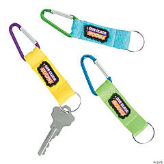 Welcome to My Class Carabiner Keychains
