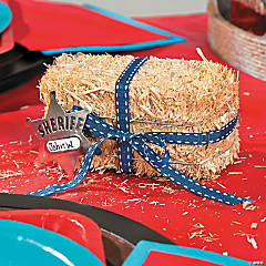 Western Hay Bale Place Holder Idea
