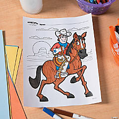 Western Party Free Printable Coloring Page Idea