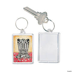 Western Theme Picture Frame Key Chains