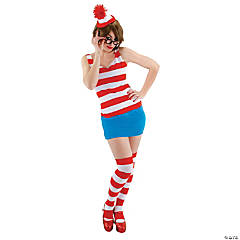 Where's Waldo Dress Costume For Women