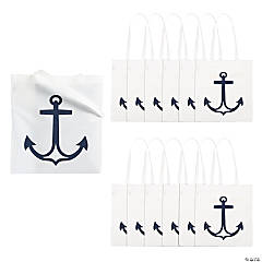 White Anchor Tote Bags