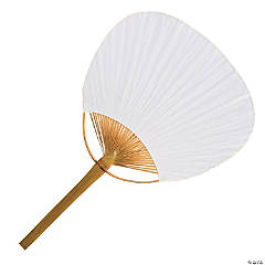 White Bamboo Paddle Fans