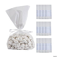 White Banded Cellophane Bags