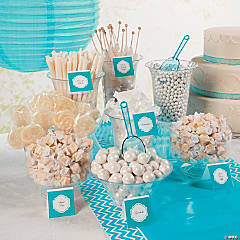 Delightful White Candy Buffet Idea