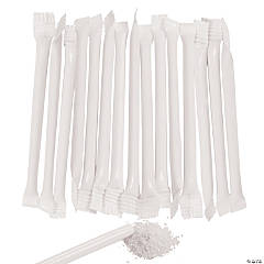White Candy-Filled Straws