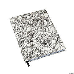 White Color Me Doodle Journal