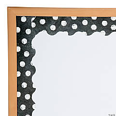 White Dots on Chalkboard Bulletin Board Border