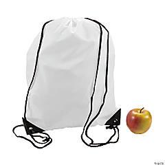 White Drawstring Backpacks