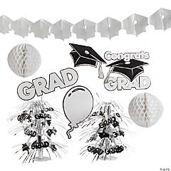 White Graduation Decorating Kit