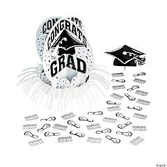 White Graduation Table Decorating Kit