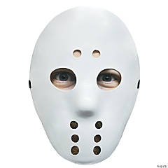 White Halloween Hockey Mask