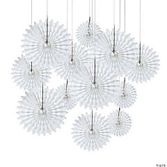 White Hanging Tissue Fans
