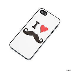 "White ""I (Heart) Mustache"" iPhone® 5 Case"