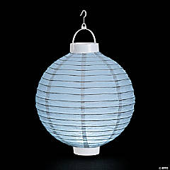 White Light-Up Hanging Paper Lanterns