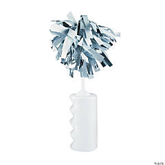 White Noisemaker Rattles with Pom