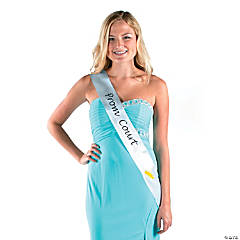 White Prom Court Sash