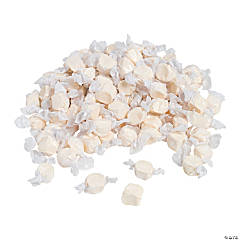 White Salt Water Taffy Candy