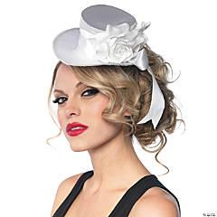 White Satin Top Hat Mini