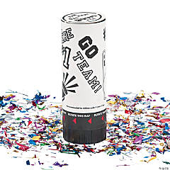 White School Spirit Party Poppers