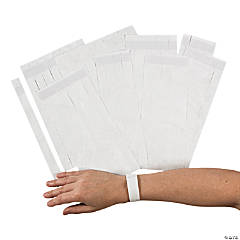 White Self-Adhesive Wristbands