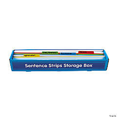 White Sentence Strips & Storage Box