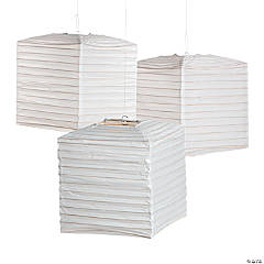 White Square Hanging Paper Lanterns