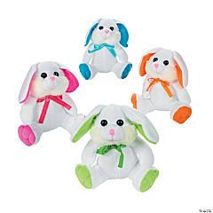 White Stuffed Easter Bunnies