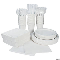 White Tableware Party Pack for 48