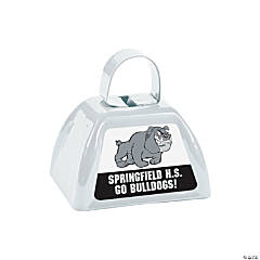 White Team Spirit Custom Photo Cowbells