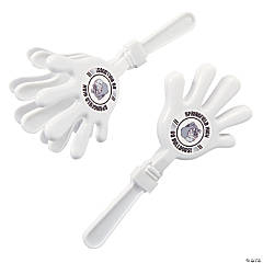 White Team Spirit Custom Photo Hand Clappers