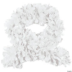 White Turkey Feather Deluxe Boa