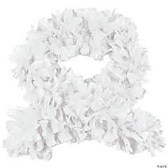 White Turkey Feather Deluxe Boa