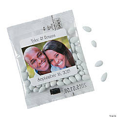White Wedding Custom Photo Candy-Coated Sunflower Seed Packs