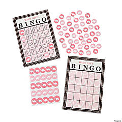 Wild Safari Pink Baby Shower Bingo Game