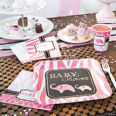 Wild Safari Pink Baby Shower Party Supplies