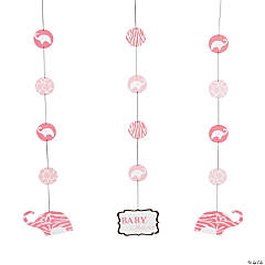 Wild Safari Pink Hanging Cutouts