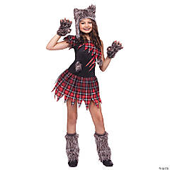 Wild Wolfie Costume for Girls