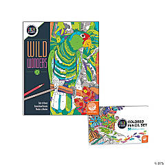 Wild Wonders: Book 4 with Set of 36 Colored Pencils