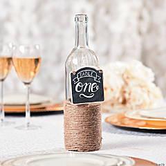 Wine Bottle Chalkboard Table Numbers Idea