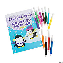 Winter Color By Numbers Coloring Books