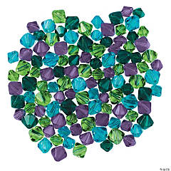 Winter Colors Crystal Bead Assortment - 6mm-8mm