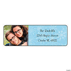 Winter Custom Photo Return Address Labels