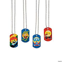 Winter International Games Emoji Dog Tag Necklaces