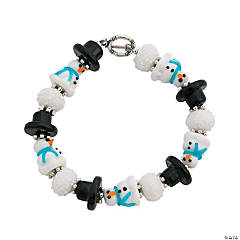 Winter Lampwork Bracelet Idea