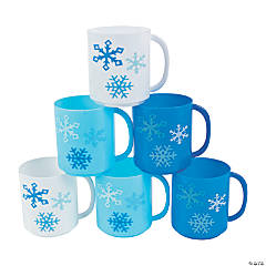 Winter Plastic Mugs